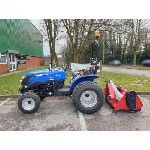 Solis 26 Compact Tractor (26HP with turf tyres) with Winton Flail Mower 1.45m