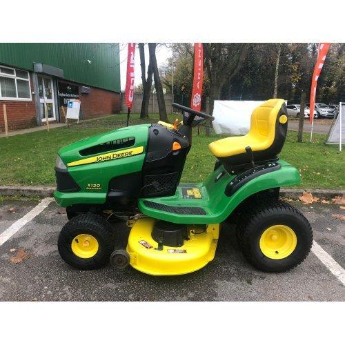 """John Deere X120 Garden Tractor with 42"""" Mid-mounted Deck"""
