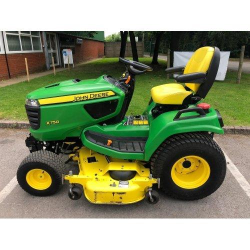 "John Deere X750 Diesel 2WD Garden Tractor with 54"" Mulching Deck"