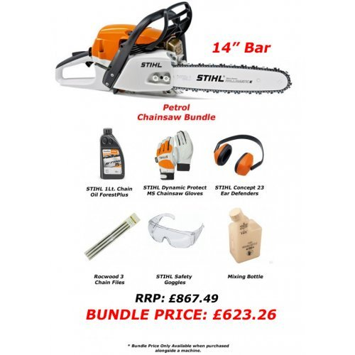 "Stihl MS 261 C-M petrol chainsaw 14"" Bar (Chainsaw Bundle Kit)"