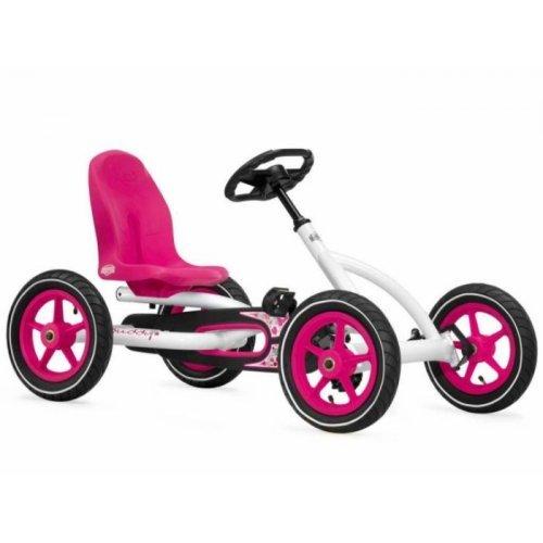 Berg Buddy White Kids Pedal Go-Kart (Pink Go-Kart)
