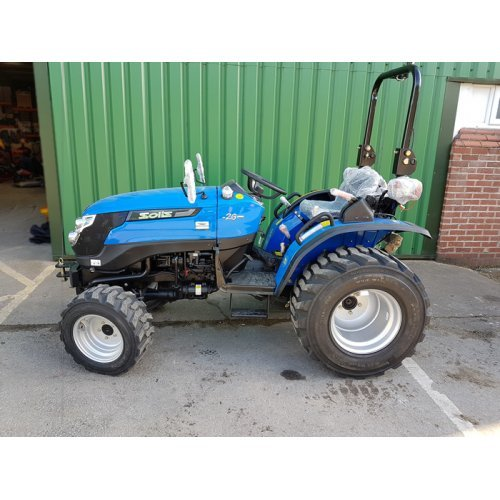 Solis 26 Compact Tractor with 4 in 1 Loader (26HP with industrial tyres)