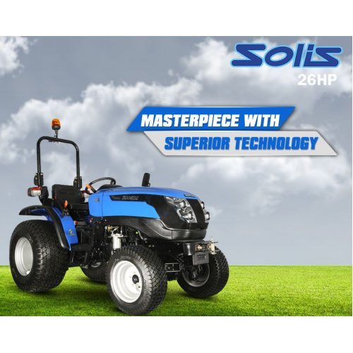Solis 26 Compact Tractor with 4 in 1 Front Loader (26HP with turf tyres)