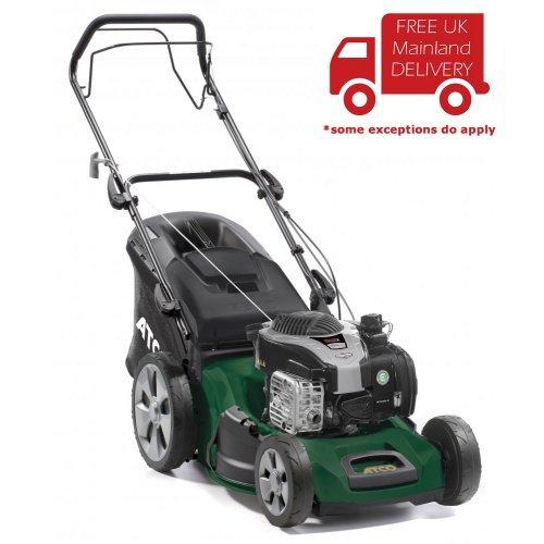 "Atco Quattro 19S 4-in-1 48cm/19"" Self-Propelled 4-Wheel Petrol Lawnmower"