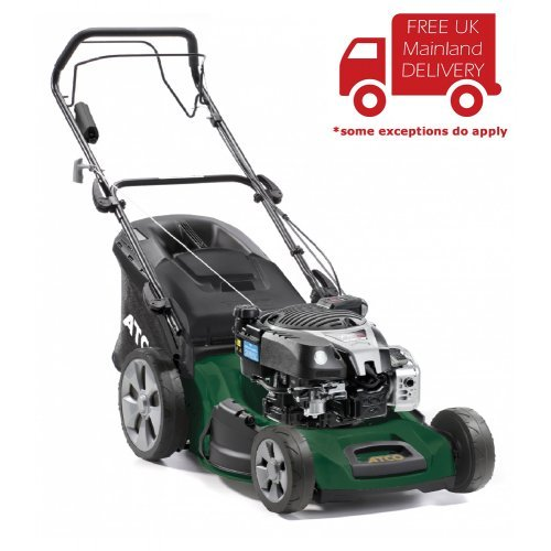 "Atco Quattro 19SE 4-in-1 48cm/19"" Self-propelled 4-Wheel Petrol Lawnmower"