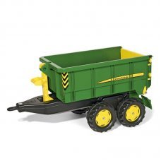 John Deere Rolly Toys Kids Tractor Tipping Trailer (12/509/8)