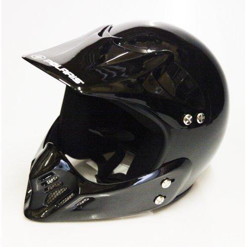 Polaris Youth Open Face Helmet - Black