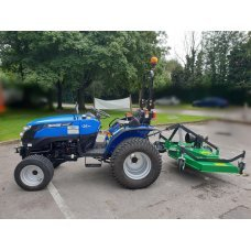 Solis 26 Compact Tractor (26HP with turf tyres) with the FM150 Finishing Mower