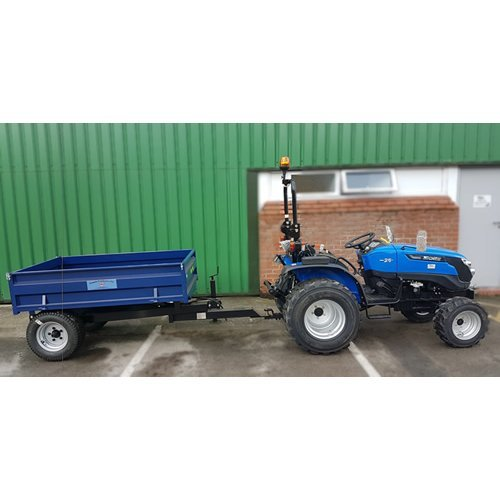 Solis 26 Compact Tractor (26HP with industrial tyres) with Oxdale Trailer